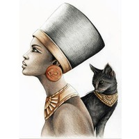 Cool Egypt,style,New 5D Diy Diamond Painting Queen Cross Stitch Rhinestone Pictures Diamond Embroidery Patchwork Mosaic NeedleworkAT_93_12