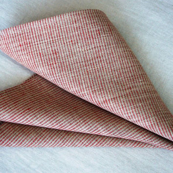 Linen table napkin set -Simple living- pure linen, striped linen, French cottage style, Eco-friendly,
