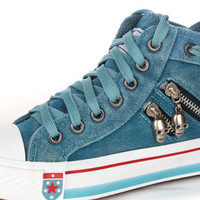 Arrival Fashion  Canvas Shoes Jeans Sneakers Flats High-ToP Femalep Sneakers 3 colors Fast Delivery