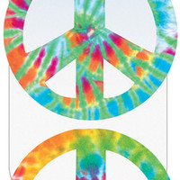 car magnet-peace signs - tie dye