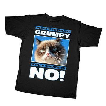 Today's Forecast - Grumpy With A Chance Of No! - Cats - Sarcasm T-shirt