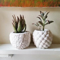 Pineapple planter, Pineapple home accent, Realistic pineapple shaped pot, Succulent planter, tropical decor, candle holder