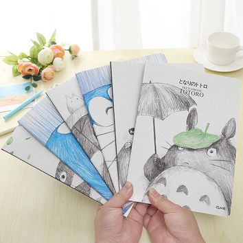 4pcs/lot Promotional Cute Creative Kawaii Design Diary Cartoon A5 Stitching Notebook Notepad School&Office Supply Stationery