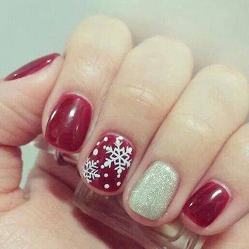 One Piece Christmas Series DIY Nail Art Print Template