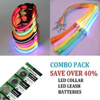 Safety LED Combo Pack - Collar-Leash-Batteries