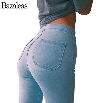 Celebrity Women High Stretch Skinny Jeans Woman Pantalones Vaqueros  Denim High Waist Pants
