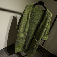 Womens Winter Warm Comfortable Soft Knitwear Long Cardigan Sweater