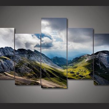 Hiking Dream 5-Piece Wall Art Canvas