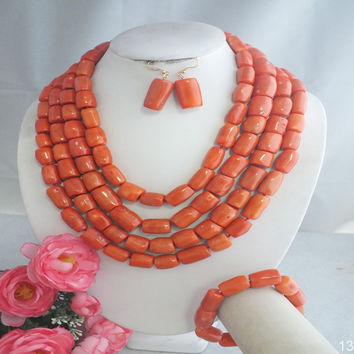 Traditional Wedding African beads jewelry set