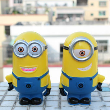 3D Minions Despicable ME Cartoon Figures Piggy Bank Money Box hucha Saving Coin Cent Penny Children Toy alcancia Baby toy GYH