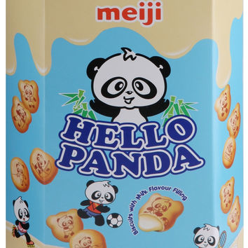 Meiji Hello Panda Milk Cream Biscuit Cookies (10 Pack)
