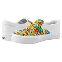 puzzle of colors Slip-On sneakers