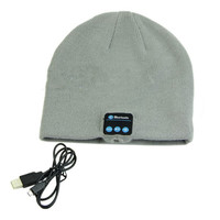 Warm Beanie Hat Wireless Bluetooth Smart Cap Headphone Headset Speaker Mic