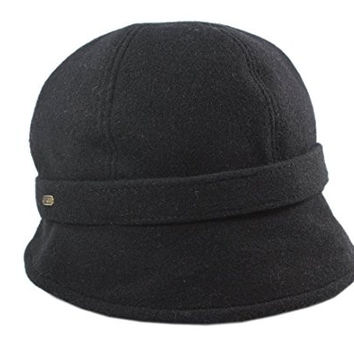 Irish Hat Flapper Style Black Wool