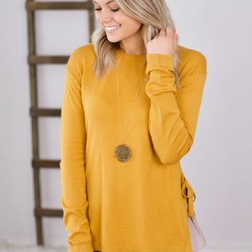 Just That Simple Sweater- Mustard