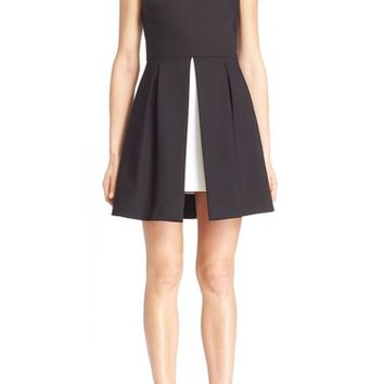 Alice + Olivia 'Bria' Peplum Fit & Flare Dress | Nordstrom