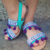 Girls & Toddler Sandals Boho Ethnic Tribal