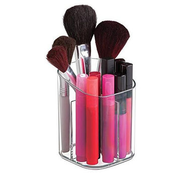 Clarity Cosmetic Organizer Cup for Vanity Cabinet to Hold Makeup Brushes, Beauty Products, Clear