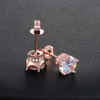 Trendy Earring Stud with 0.8 ct Simulated Diamond AAA Cubic Zirconia Earring For Women