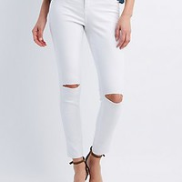 "REFUGE ""SKINTIGHT LEGGING"" SLIT KNEE JEANS"