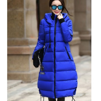 Warm Thickening Hooded Duck Down Coat Jacket
