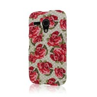 Moto g Case, MPERO SNAPZ Series Rubberized Case for Motorola Moto G (1st Gen) - Vintage Red Roses