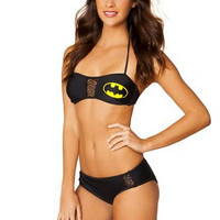 Batman Printed Halter bikini swimsuit