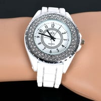 funshop — Full CZ Pave Frame Watch for Women