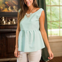 Adorable To Be Done Tank, Aqua