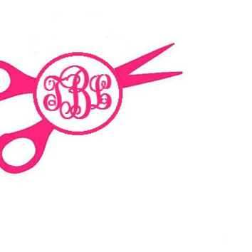Monogram Hairdresser Decal - Monogrammed Hairdresser Car Sticker