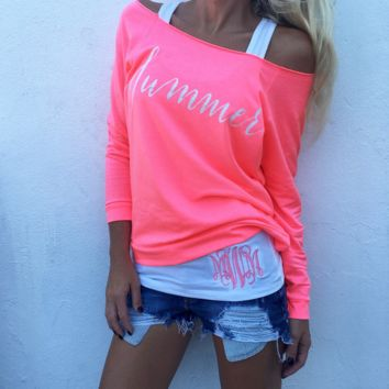 Pink Sexy Long Sleeved T-shirt