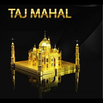 Taj Mahal 3D Puzzle Metal Educational Toys Jigsaw Puzzles For Kids Building Model Stainless Steel DIY Assembly Toy For Boy