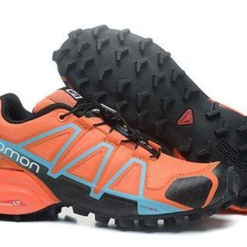 ICIKL8A Salomon Women's Speed Cross 4 Trail Running Shoe Orange/Black US5-9.5