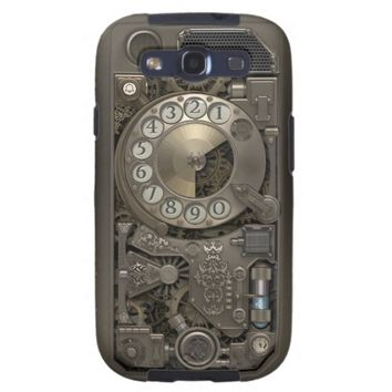 Steampunk Rotary Metal Dial Phone. Galaxy SIII Case