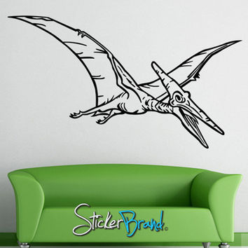 Vinyl Wall Decal Sticker Dinosaur Pterodactyl Bird #KRiley113
