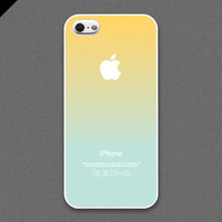 iPhone 5 Case - Pastel gradation//  light yellow  & light cyan - also available in iPhone4s