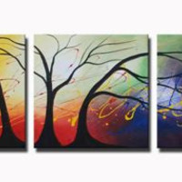 Cosmic Trees Canvas Wall Art