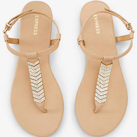 CHEVRON PAVE T-STRAP SANDAL from EXPRESS