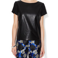 Faux Leather Top by Alex + Alex at Gilt