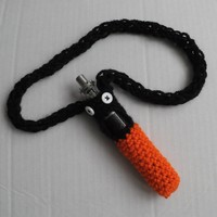 Halloween Themed e Cig holder neck sling Vape cover Orange and Black Electronic Cigarette Sleeve