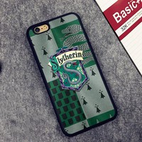 House Slytherin Harry Potter Printed Soft Rubber Phone Cases For iPhone 6 6S Plus 7 7 Plus 5 5S 5C SE 4 4S Back Cover Skin Shell