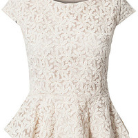 Flower Lace Peplum Top, Club L
