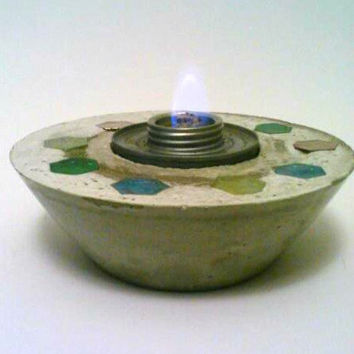 Concrete Fire Bowl, Concrete Bowl, Fire Pit,  Fire Bowl, Sterno, Succulent Holder
