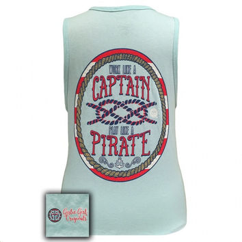 Girlie Girl Originals Work like a Captain, play like a Pirate Tank Top