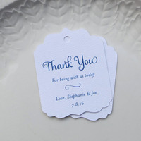 Navy Blue Wedding Favor Tags, Personalized Gift Tags, Shower, Baptism Favor, Product Label, Welcome Bag, Other Colors Available - Set of 20