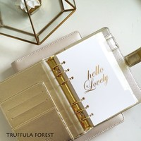 SPARKLY GOLD/SILVER PLANNER - PERSONAL (A6) SIZE (FREE SHIPPING)