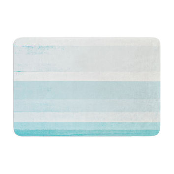 "CarolLynn Tice ""Waves"" Blue Aqua Memory Foam Bath Mat"