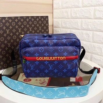 LV Women Shopping Leather Tote Handbag Shoulder Bag Purse