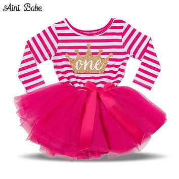 Princess Dress For Girl Winter Baby Tutu Dresses Girls Clothes Kids Toddler Clothing For Girl 1st Birthday Outfits