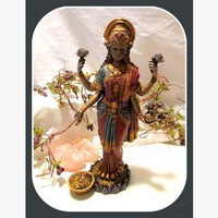 Lakshmi Goddess of Good Luck, Wealth, Fortune & Prosperity Statue